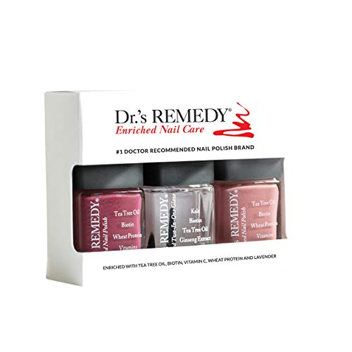 Dr.'s Remedy All Natural Anti Fungal Nail Polish ANNIVERSARY KIT Organic Non Toxic Toenail Fungus Treatment 3 Piece Nail Polish Set