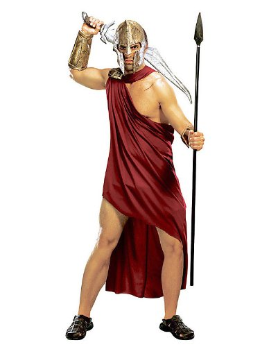 Adult Men's 300 Rise of an Empire Spartan Gladiator Warrior Costume XL 46 Red/Gold