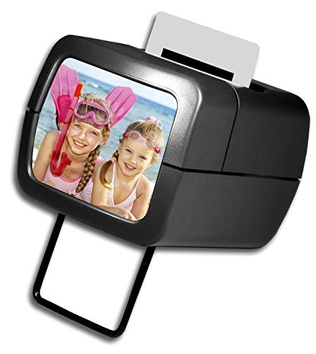 AP Photo Illuminated Slide Viewer Battery Operated & Pressure Activated Transparency Viewer for 2x2 & 35mm Photographs, Film, Pictures Tabletop & Handheld Portable Device| Made In Europe