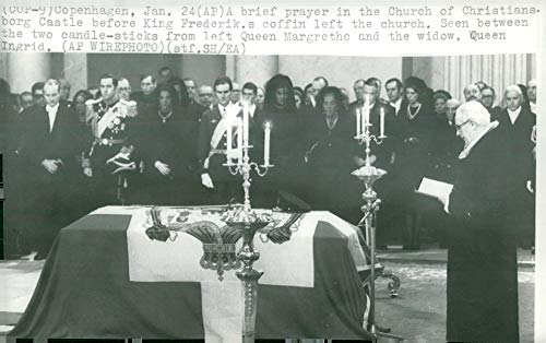 Vintage photo of King Frederick IX of Denmark39;s Funeral, King Fredrik IX of Denmark39;s Landing in Christian IX39;s Tomb Chapel