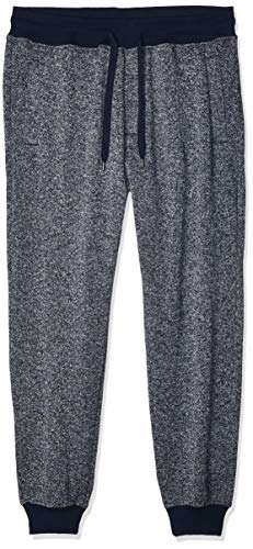 Southpole Men's Basic Fleece Jogger Pant-Reg and Big & Tall Sizes, Navy(Marled), X-Small