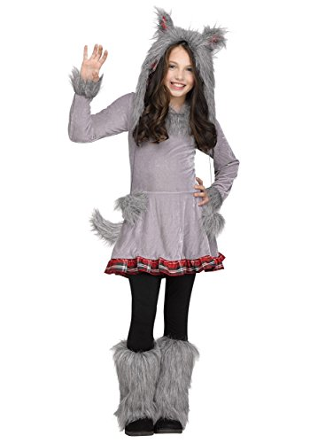 Girl's Wolf Cub Costume Large