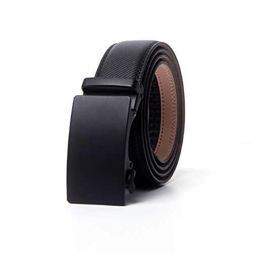 CHAOHONG Men's Black Leather Casual black Leather belt long belts for plus size men belts for men big and tall, Black3, Waist Size-42'--52'