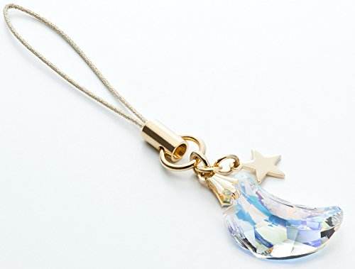 Kisaragi Cell Phone Strap 031 Crescent - Crystal Aurora (Gold Court)