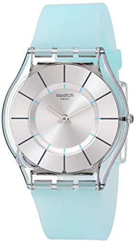Swatch Tech-Mode Quartz Silicone Strap, Blue, 16 Casual Watch (Model: SFK397)