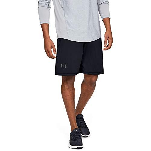Under Armour Men's Raid 10-inch Workout Gym Shorts , Black (001)/Graphite , XX-Large