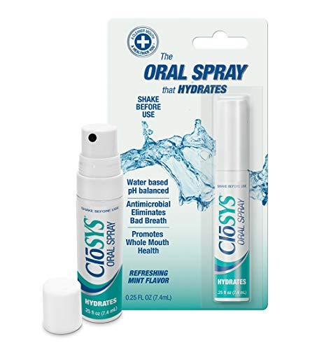 CloSYS Hydrating Oral Spray, 0.25 Fluid Ounce Sprays (Pack of 6)