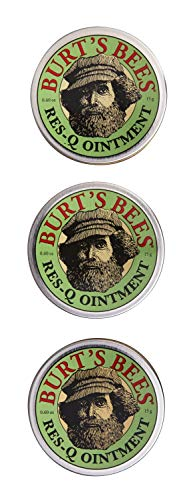Burt's Bees 100% Natural Multipurpose Res-Q Ointment, 0.6 Oz - Pack of 3 (Package May Vary)