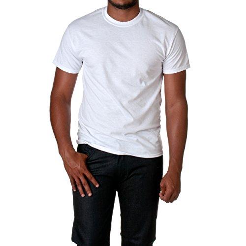 Gildan mens DryBlend 5.6 oz. 50/50 T-Shirt(G800)-WHITE-2XL