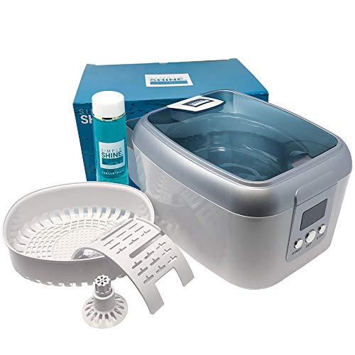 Ultrasonic Jewelry Cleaner Kit - New Premium Cleaning Machine and Liquid Cleaner Solution Concentrate - Digital Sonic Cleanser for Watches Glasses Dental and More