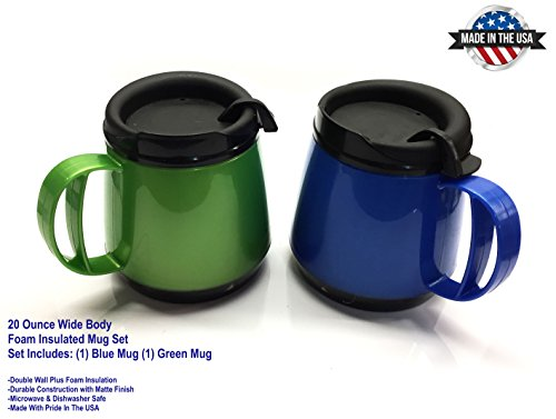 Two 20oz. Foam Insulated Wide Body ThermoServ Mugs