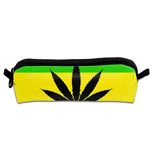 Weed Flag Pencil Case - Zippered Pen Pouch for School, Work & Office
