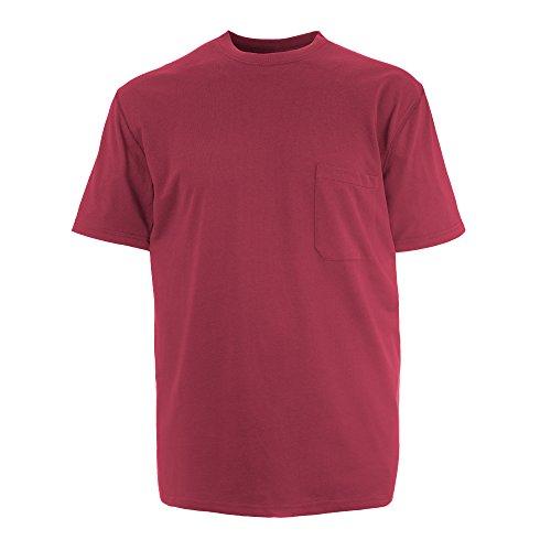 Insect Shield Men's UPF Dri-Balance Short Sleeve Pocket Tee, Burgundy, Large