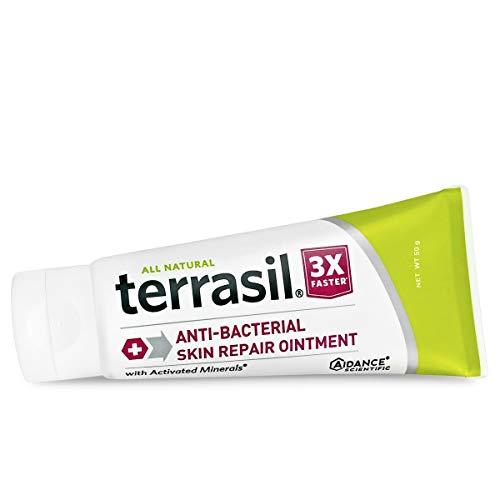 Antibacterial Skin Repair 3X Faster Natural Formula for Fissures Folliculitis Angular Cheilitis Impetigo Chilblains Lichen Sclerosus Cellulitis by Terrasil (50g)