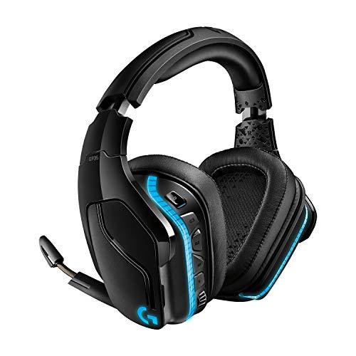 Logitech G935 Wireless DTS:X 7.1 Surround Sound LIGHTSYNC RGB PC Gaming Headset - Black/Blue
