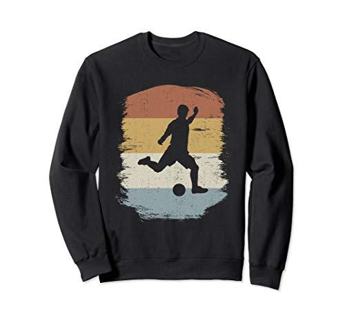 Retro Silhouette Soccer Gift | Football Soccer Sweatshirt