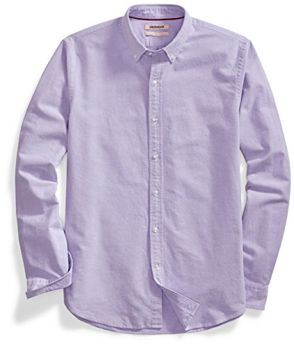 Amazon Brand - Goodthreads Men's 'The Perfect Oxford Shirt' Standard-Fit Long-Sleeve Solid , Purple, Medium
