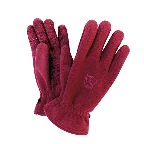 Vital Salveo- Outdoor 3WARM Unisex Windproof Non Slip Winter Fleece Gloves (Wind Red, Large)