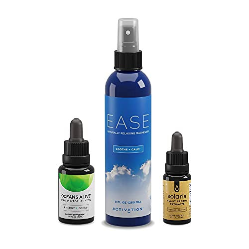 Activation Products Ease Magnesium Spray for Muscle Pain I Oceans Alive to Boost Mind and Energy I Solaris Natural Immune Support