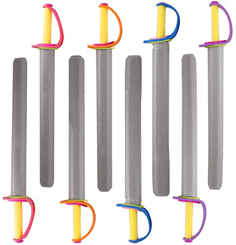 Liberty Imports 26' Pirate Foam Swords Large Toy Set - Kids Birthday Party Activities, Event Favors (8 Pack)