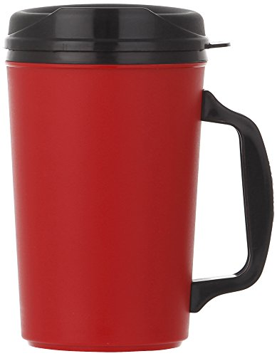 ThermoServ Foam Insulated Mug, 20-Ounce, Red