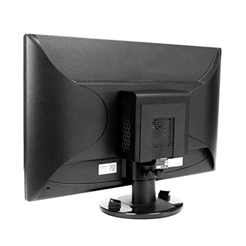 HIDEit Mounts Uni-SW VESA Mount, Black Steel Adjustable Small and Wide VESA Mount for Mini Computers, CPUs, Modems, Routers and More