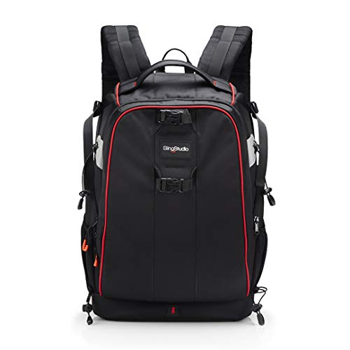 SlingStudio Backpack – Backpack with Padded Pockets for Equipment and Devices - Black