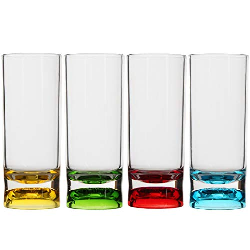 Lily's Home Indoor and Outdoor Unbreakable Shot Glasses, Premium 2oz Clear Acrylic Reusable Cups, Perfect for Any Liquor and Jello Shots. Set of 4 (Multi Color)