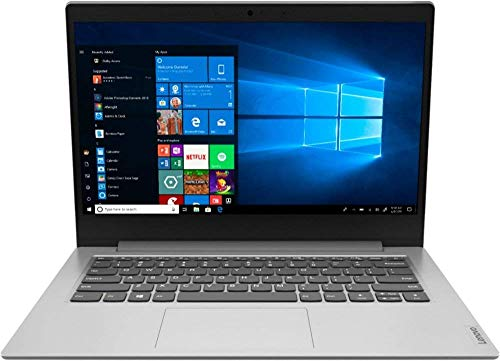 Lenovo IdeaPad 1 14' Laptop Computer for Business Student, AMD A6-9220e up to 2.4GHz, 4GB DDR4 RAM, 64GB eMMC, 802.11AC WiFi, Bluetooth 4.2, Webcam, Grey, Windows 10 S Mode, BROAGE 64GB Flash Drive