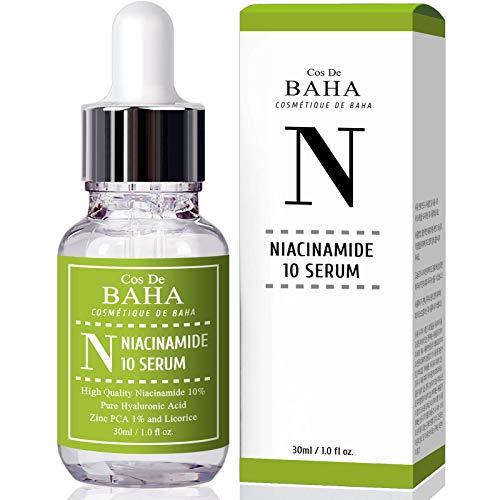 Niacinamide 10% + Zinc 1% Serum for Face - Pore Reducer + Uneven Skin Tone Treatment + Diminishes Acne Prone, Korean Skin Care (1Fl oz)