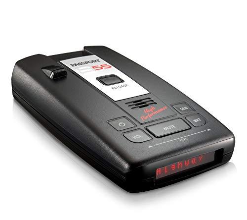 Escort Passport S55 Radar Detector – Extended Long Range, Escort Live App, AutoMute, AutoSensitivity, Audible Alerts, Adjustable LED Display, Signal Strength Meter, Black