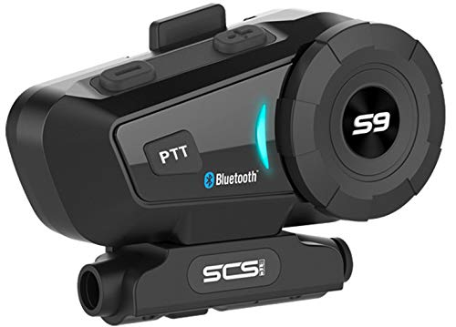 Motorcycle Helmet Bluetooth 4.1 Headset SCSETC S-9 500m -1000m 6 Riders Group Communication Intercom System Universal Wireless Interphone (Waterproof/Handsfree/Stereo Music/GPS/2 Mic)
