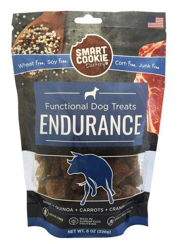 Smart Cookie Beef Endurance Dog Treats, 8Oz Bag, Grain Free