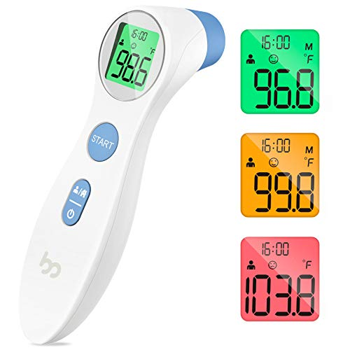 Femometer Medical Forehead Thermometer, Digital Instant Accurate Reading Forehead Thermometer with LCD Display for Whole Family