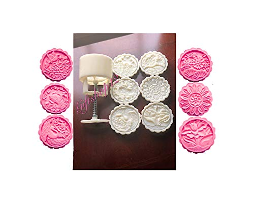 Giftshop12 Mooncake Molds Cookie Cutter Molds Round 150g-185g
