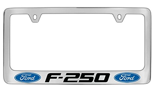 Personalized City Ford F-250 Chrome License Plate Frame