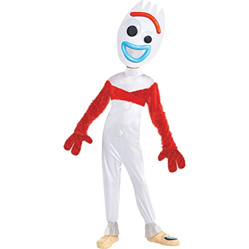 Party City Toy Story 4 Forky Costume for Children, Medium (8-10), Includes Jumpsuit, Mask, Gloves, Wrap and Shoe Covers