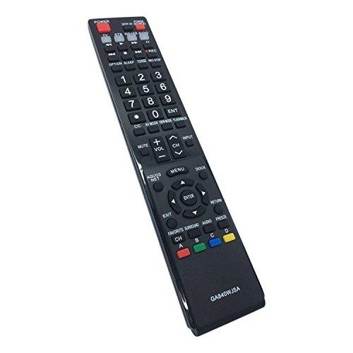 Smartby New GA840WJSA Remote for Sharp Aquos TV LC-40LE810 LC-40LE820 LC-46LE810 LC-46LE820 LC-52LE810 LC-52LE820 LC-60LE810 LC-60LE820