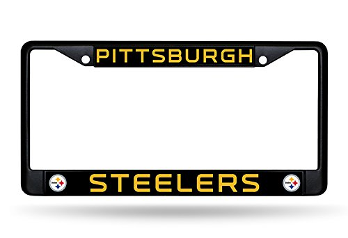 NFL Rico Industries Standard Chrome License Plate Frame, Pittsburgh Steelers