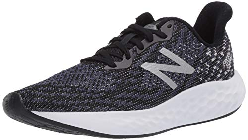 New Balance Women's Fresh Foam Rise V2 Running Shoe, Black/Thunder/White, 12 W US