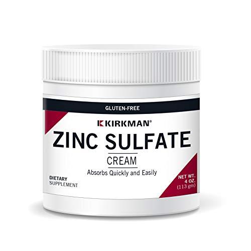 Kirkman Zinc Sulfate Cream 113 gm/4 oz Minerals Gluten/Casein Free