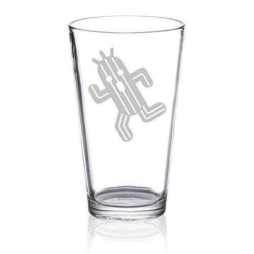 Final Fantasy - Cactuar - Etched Pint Glass