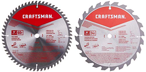 CRAFTSMAN 10-Inch Miter Saw Blade, Combo Pack (CMAS210CMB)
