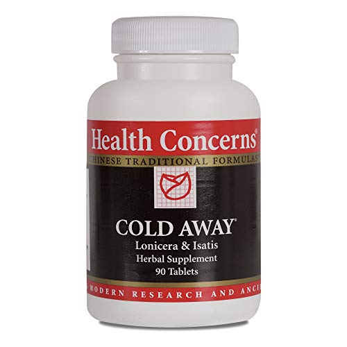 Health Concerns - Cold Away - Lonicera and Isatis Chinese Herbal Supplement - Gan Mao Ling - Cold and Flu Relief - with Isatis Root and Leaf Extract - 90 Count