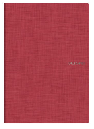 Ecoqua Grid Notebook 8.25X11.7 Raspberry