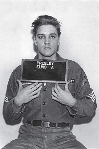 Elvis Presley-Enlistment Photo Poster Rolled 24 x 36 PSA009993