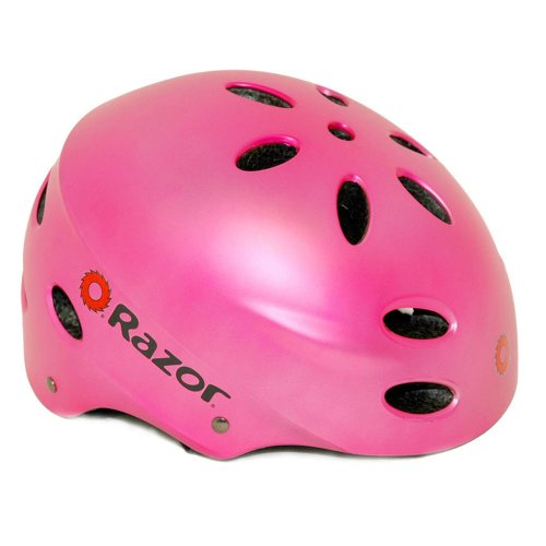 Razor V-17 Youth Multi-Sport Helmet (Satin Pink)