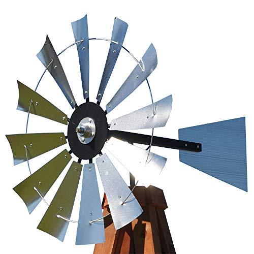 38-inch Windmill Head w/Plain Rudder & Instructions to Build an 11-Foot Tall Windmill