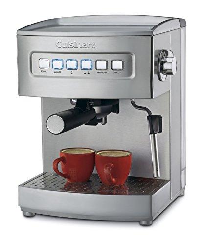 Cuisinart EM-200NP1 Programmable 15-Bar Espresso Maker, 12.8'(L) x 9.25'(W) x 10.63'(H), Stainless Steel