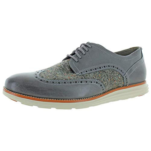 Cole Haan Original Grand Wingtip Oxford Quiet Shade Leather/Wool/Ivory 8
